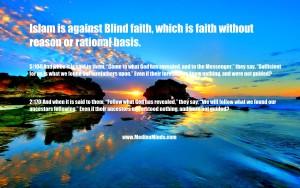 blind faith quran