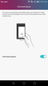 Honor 7 tip : One hand mode