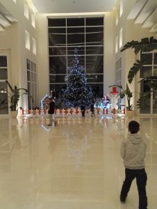 Jaz Aquvivia lobby at Christmas Time