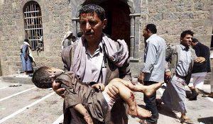 Yemen child killed by Saudi strikes